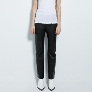 Helmut Lang Lamb Leather Panel Pants